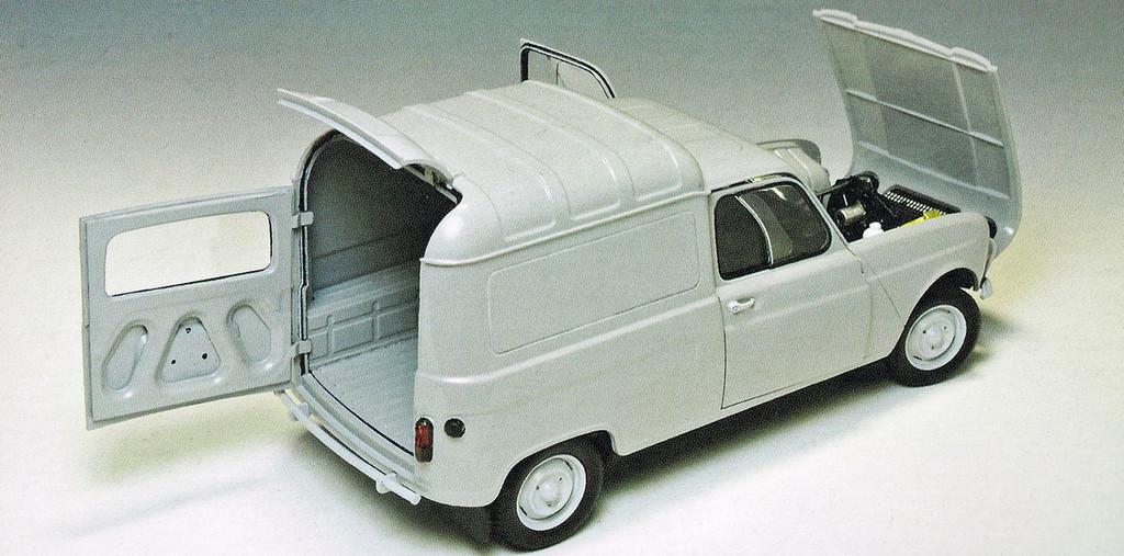 Ebbro 25003 RENAULT 4 Fourgonnette 1/24 Scale plastic model Kit 4526175250034