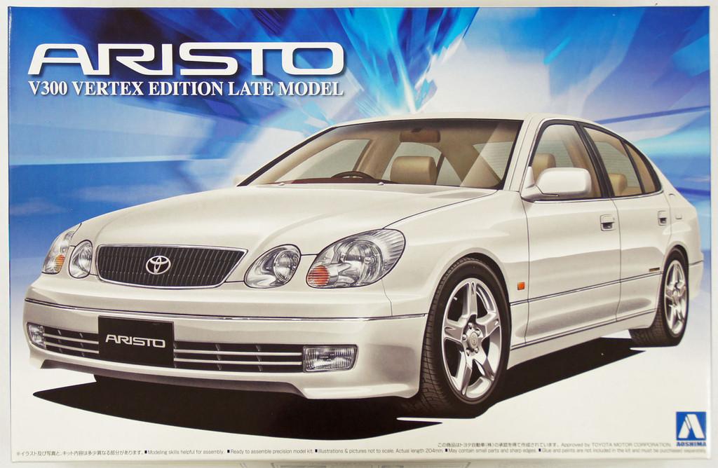 Aoshima 12192 Toyota JZS161 Aristo V300 VERTEX Edition Late Model 1/24 Scale Kit