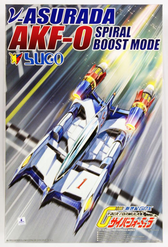 Aoshima 05798 Cyber Formula v-Asurada AKF-0 Spiral Boost Mode 1/24 Scale Kit