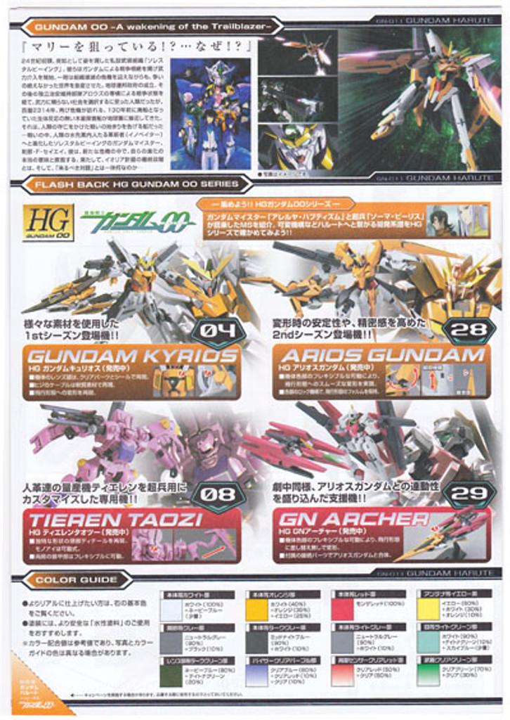Bandai HG OO 68 Gundam HARUTE GN-011 1/144 Scale Kit
