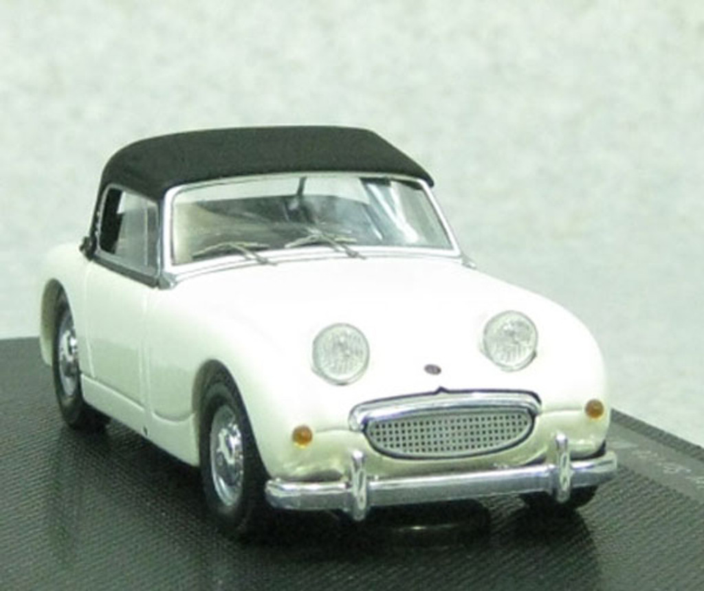 Ebbro 44458 AUSTIN HEALEY Sprite MK1Rhd White with black soft top 1/43 Scale