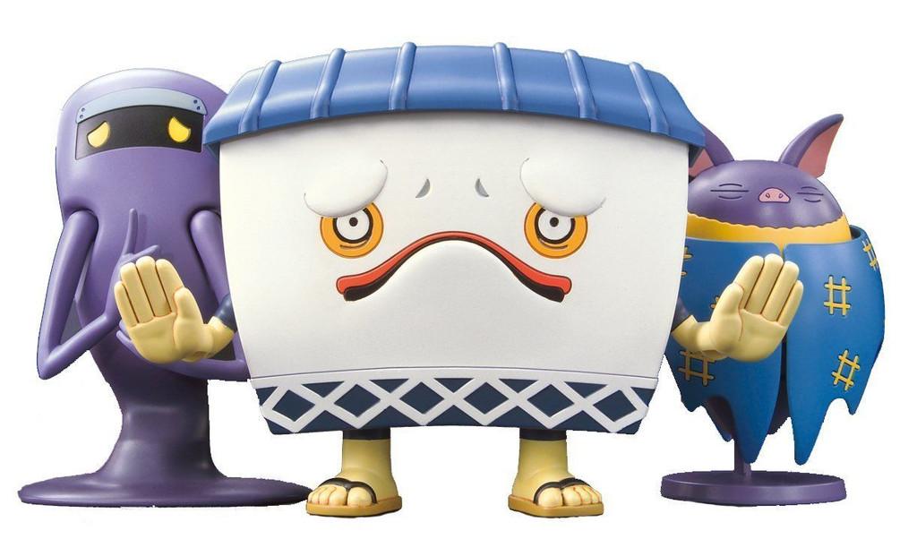 Bandai Yo-Kai Watch 973474 Murikabe & Jimii & Hikoumori Plastic Model Kit