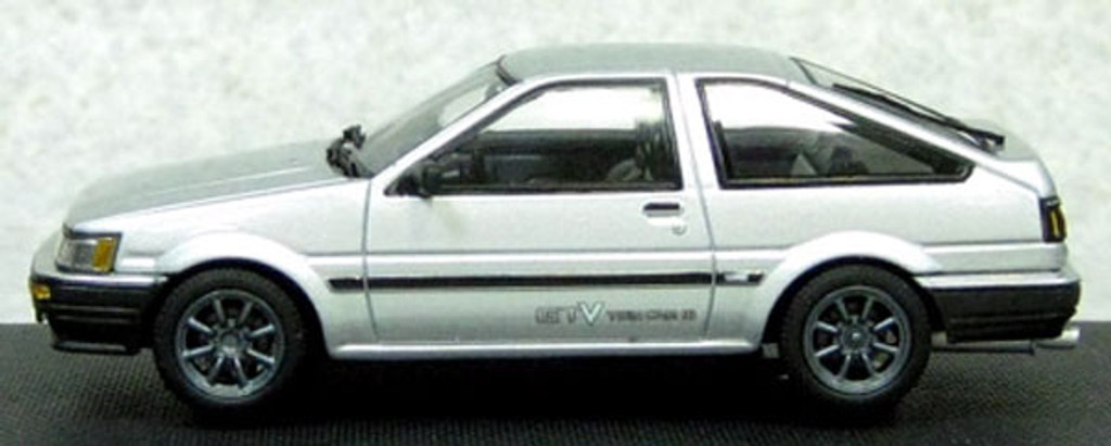 Ebbro 45186 Corolla Levin 1600 GTV with alloy wheel Silver 1/43 Scale