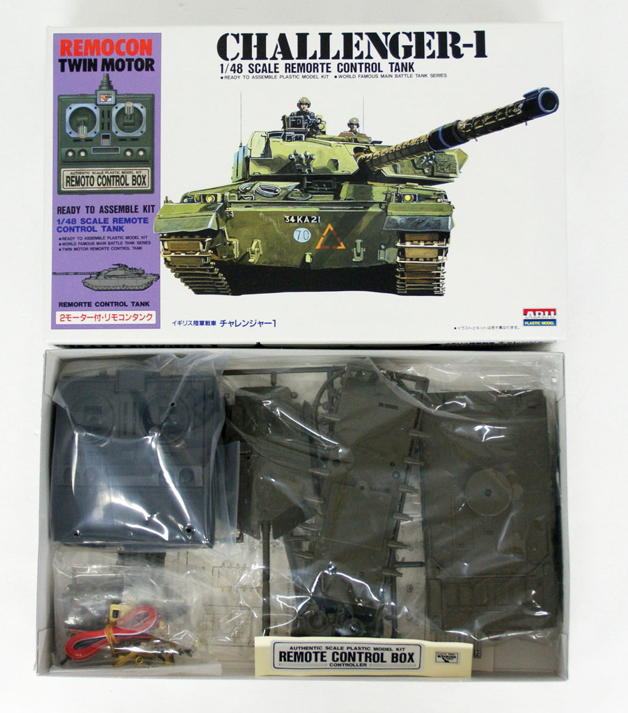 Arii 441534 Challenger-1 British Remorte Control Tank 1/48 Scale Kit