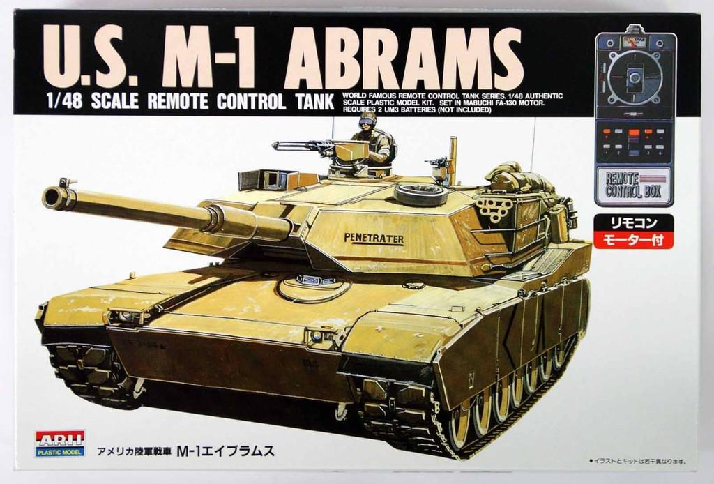 Arii 441015 U.S. M-1 ABRAMS Remote Control Tank 1/48 Scale Kit Arii 441015 U.S. M-1 ABRAMS Remote Control Tank 1/48 Scale Kit