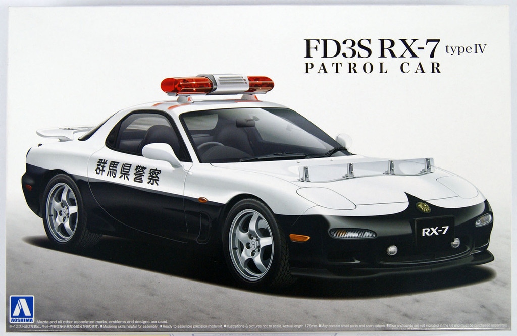 Aoshima 14165 Mazda FD3S RX-7 Type IV Patrol Car 1/24 Scale Kit