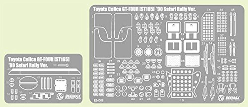 Aoshima 97892 Toyota Celica GT-Four ST165 '90 Detail Up Parts Set 1/24 Scale
