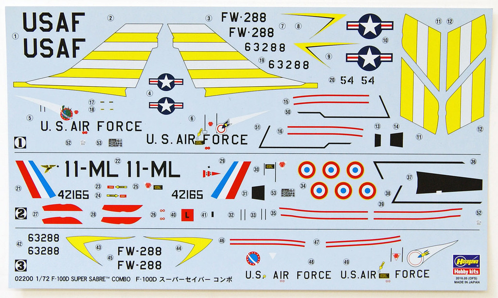 Hasegawa 02200 F-100D Super Sabre Combo 1/72 Scale Kit Limited Edition
