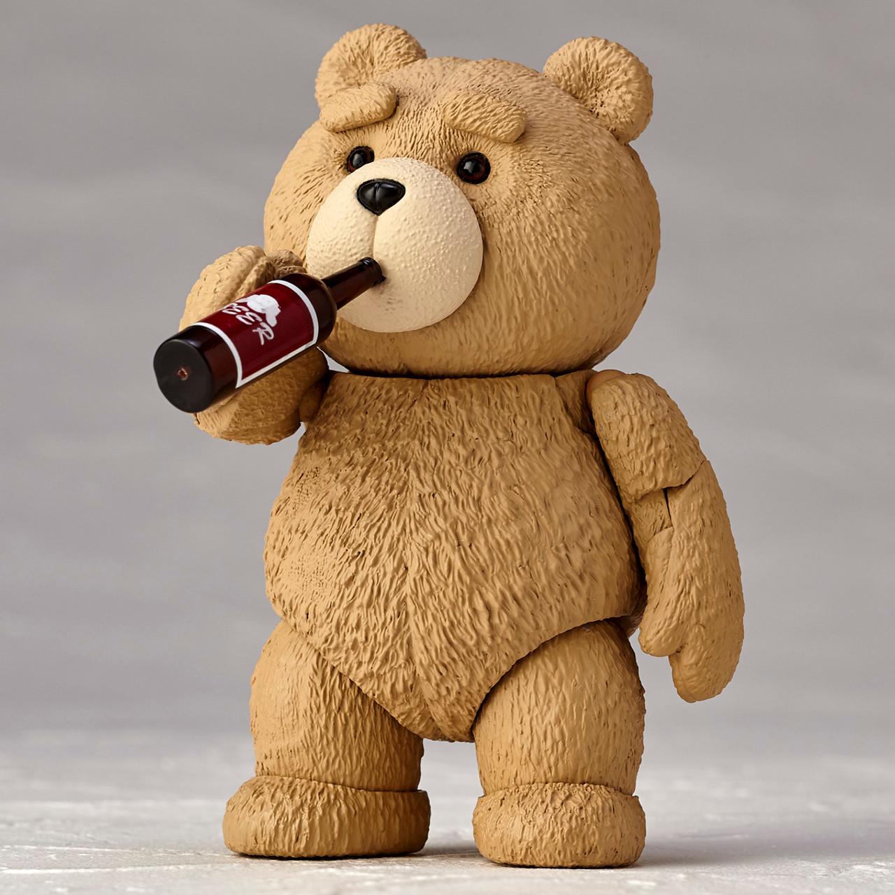 Teddy Bear TED 2 Movie Revoltech Series No.006 Kaiyodo PVC Figure Toys With Box