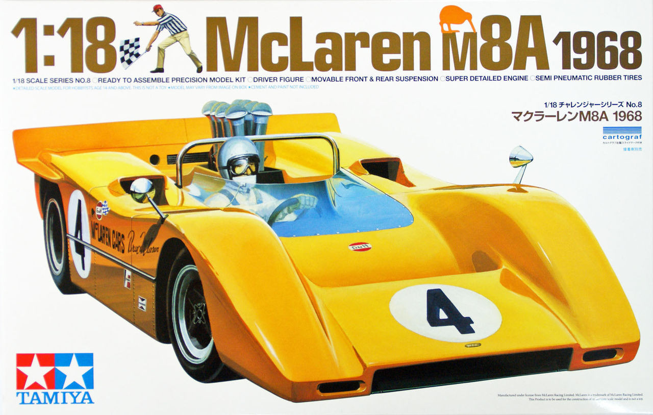 McLaren M8A 1968 Tamiya 1//18 Scale Car  Kit