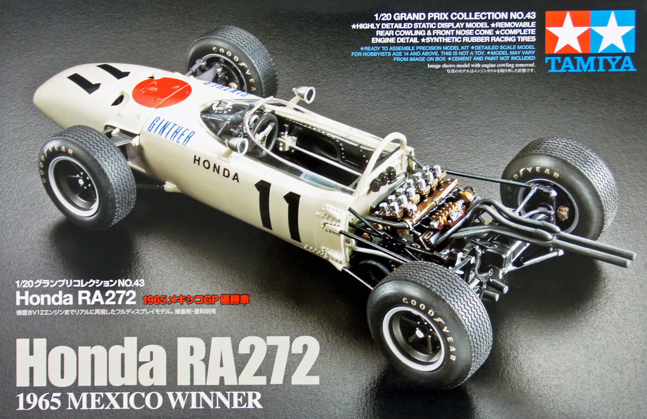 EBBRO 1//20 Honda RA272 F-1 1965 Mexico GP Winner Diecast Finished Model