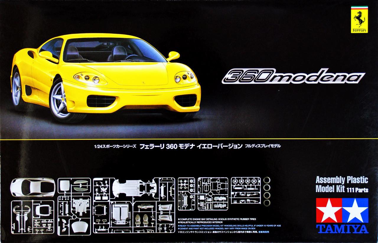 Tamiya 24299 Ferrari 360 Modena Yellow Version 1 24 Scale Kit Sports Car Toy Models Kits 1 24