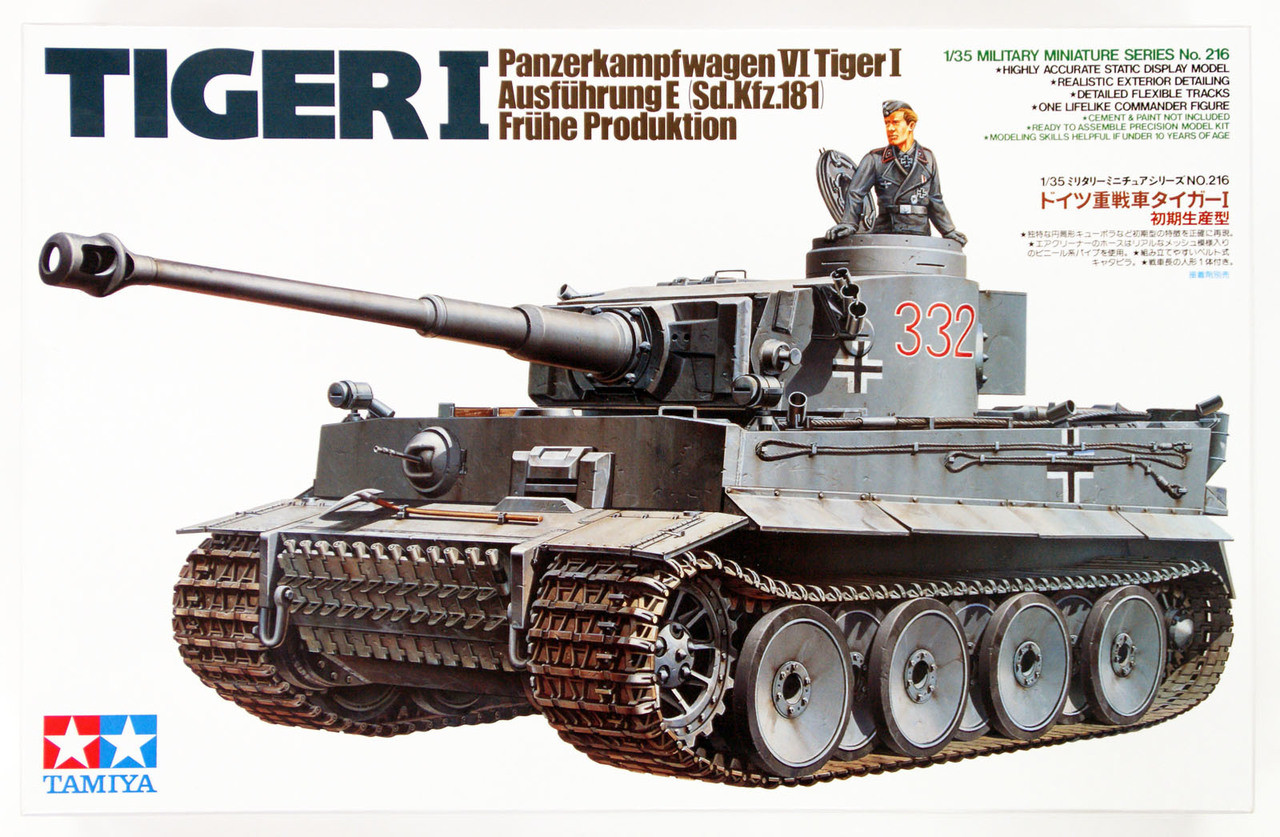 Tamiya 1//35 Tiger I ausfuhrung Afrika Initial Production # 35227