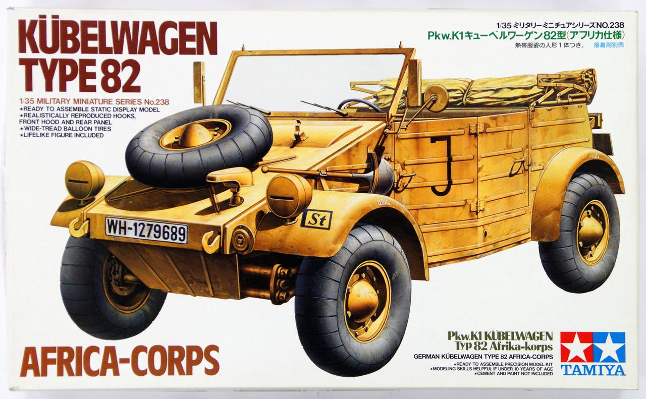 Tamiya 35238 German Kubelwagen Type 82 Africa Corps 1//35 Scale Kit