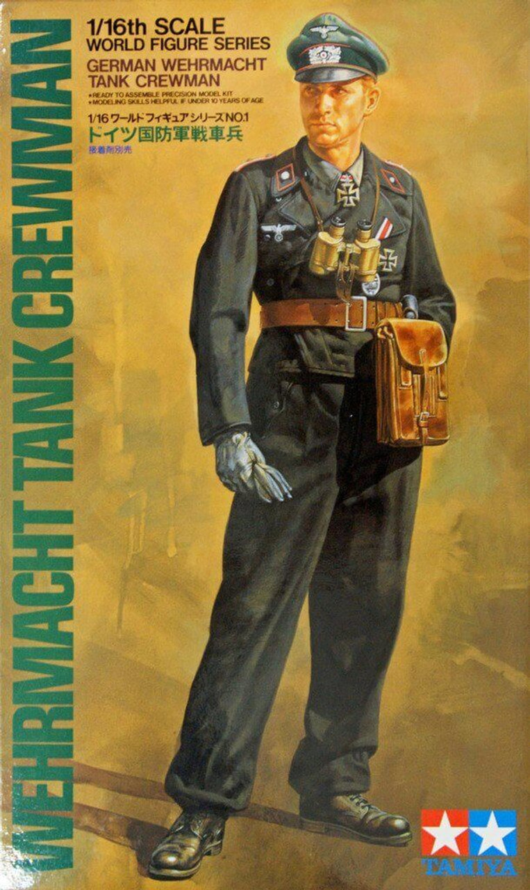 WW2 German tank crewman Tamiya 1//16 scale model kit 36301