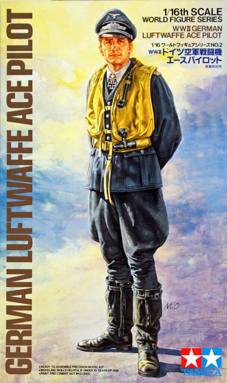 Tamiya 89641 1//35 Scale Military Figure Model Kit WWII German Gunner /& Ace Pilot