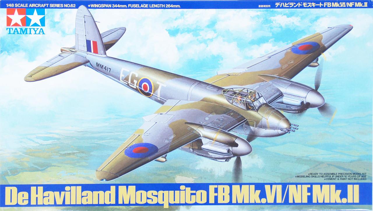 Tamiya 60747 De Havilland Mosquito FB Mk.IV//NF Mk.II 1//72 scale Kit