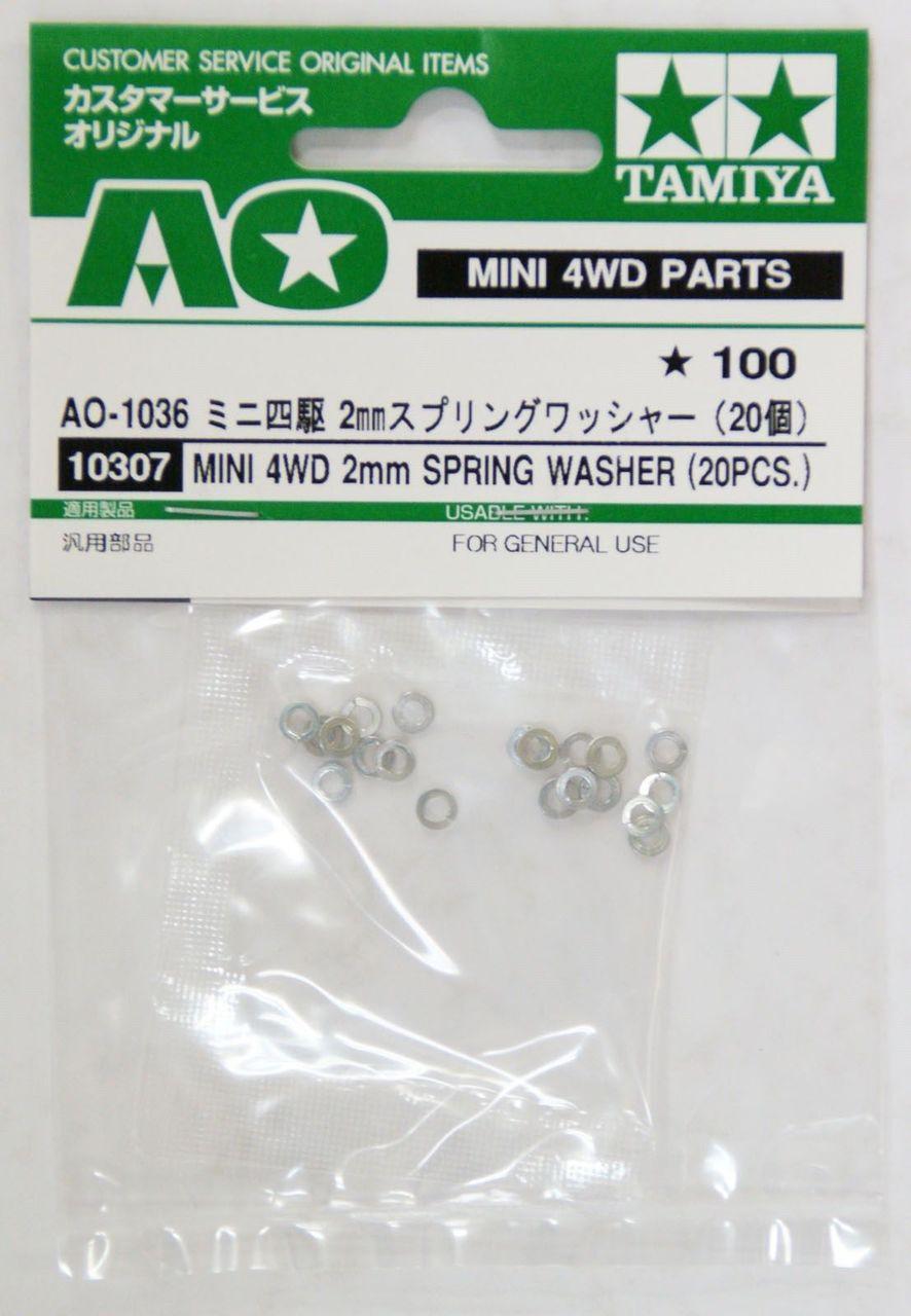 TAMIYA 94385 Mini 4WD Racer Long Screw Lock Nut Spring Washer 2mm MODEL RACE CAR