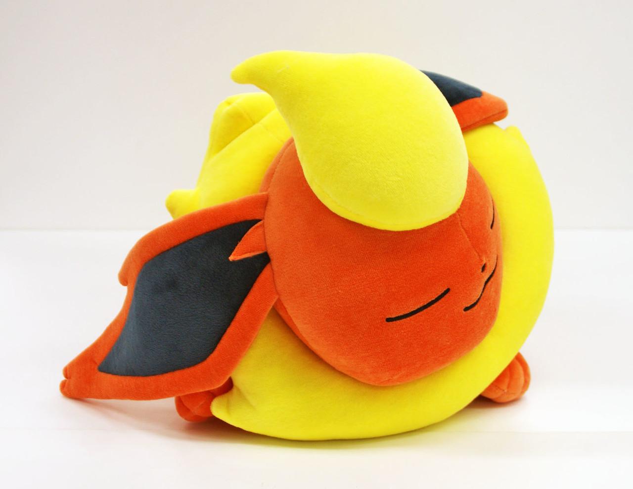 Japan NEW Pokemon Center Original Plush Doll Sleeping Flareon Booster
