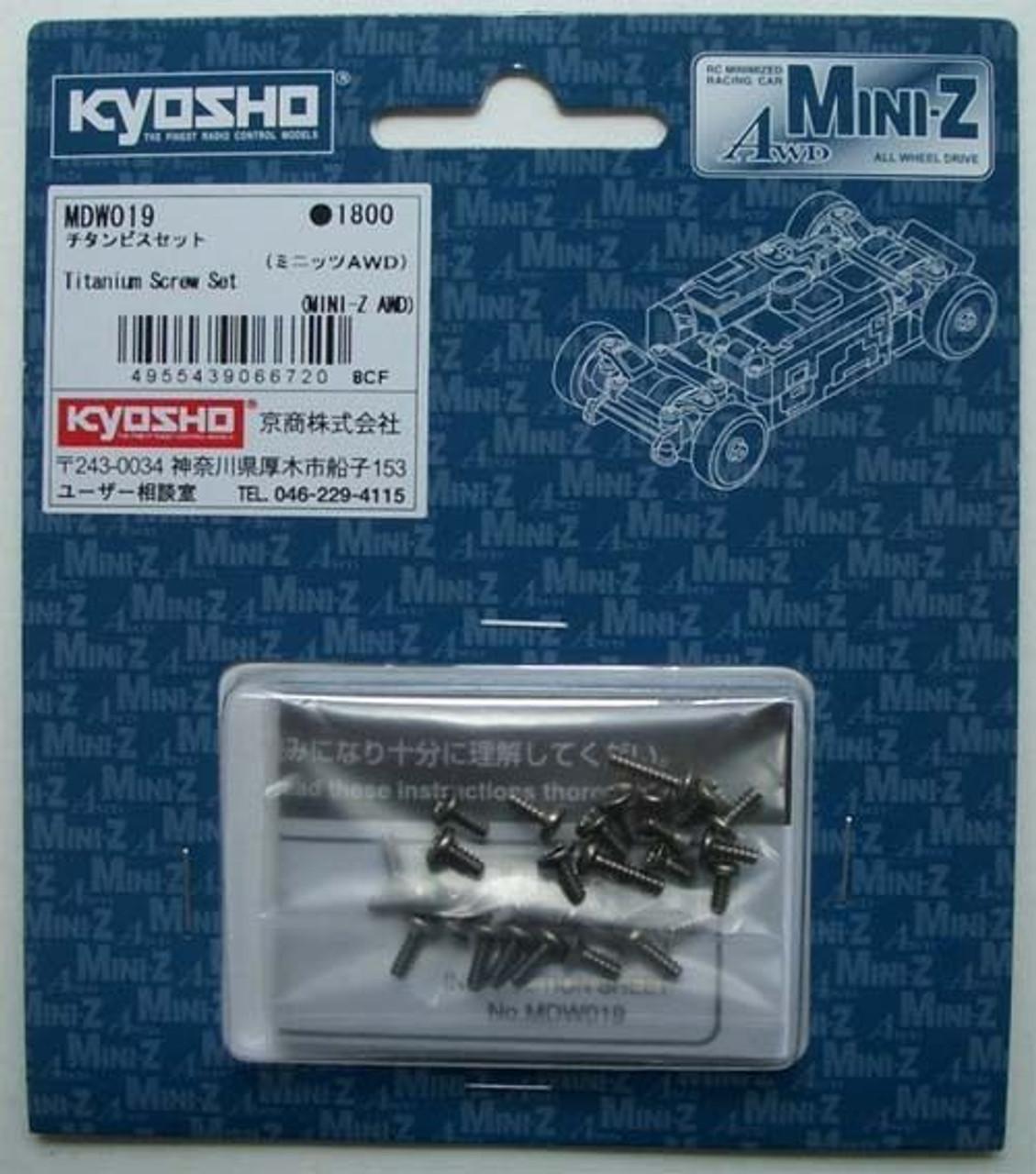 Mini-Z AWD//Nickel Kyosho MDW020 Butten HEX Screw Set