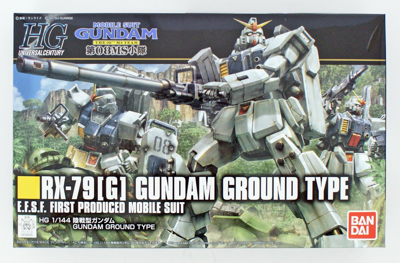 The 08 MS Team 1//144 scale kit G Bandai HGUC 155 GUNDAM RX-79 Ex-8 Gundam Ez8
