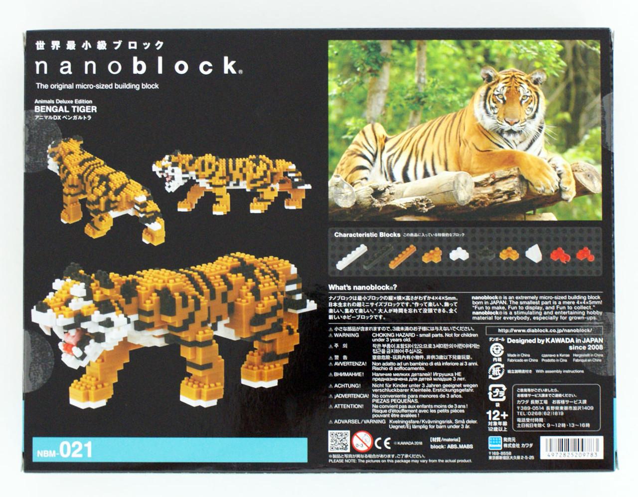 Bengal Tiger Deluxe Edition Nanoblock Micro Sized Building Block Kawada NBM021