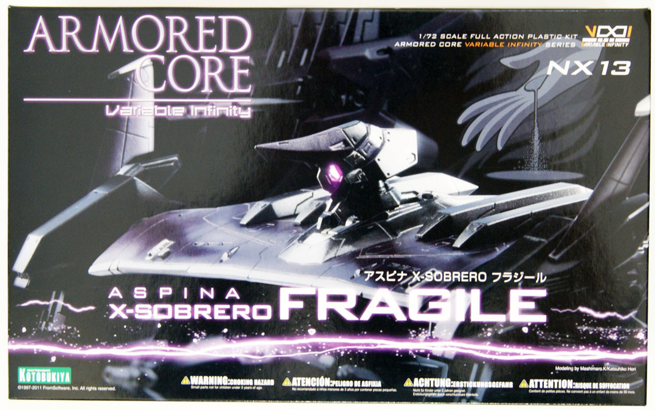 Armored Core Aspina X-Sobrero Fragile 1//72 scale Model Kit
