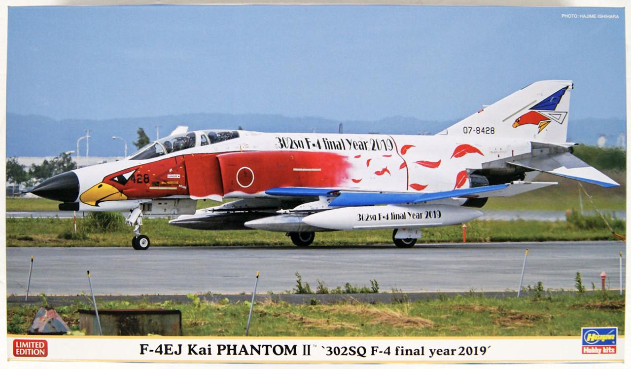 302SQ F-4 Final Year 2019 Hasegawa 07475-1//48 F-4EJ Kai Phantom II Neu