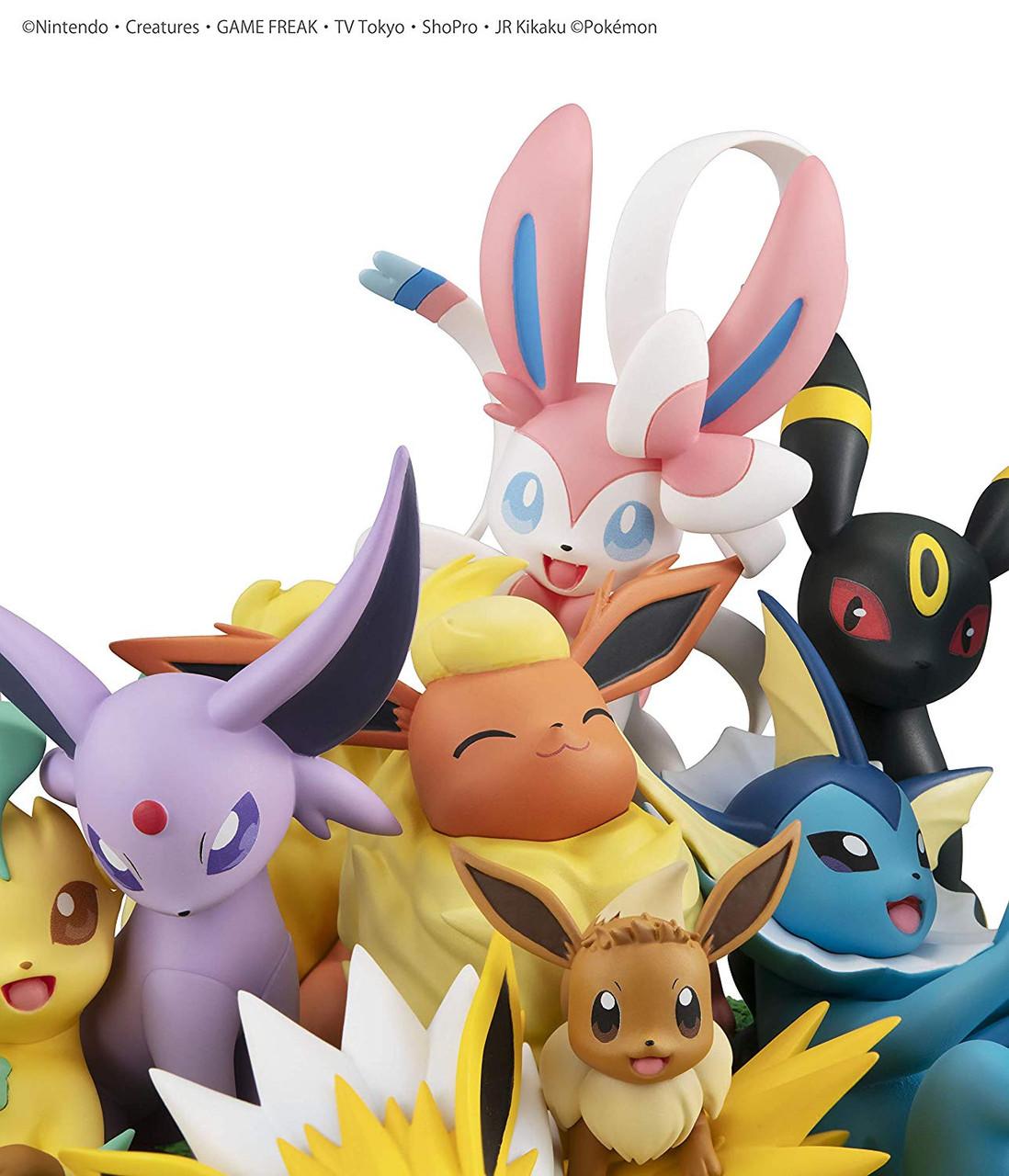 MegaHouse G.E.M.EX Series Pokemon Eevee Friends Complete Figures
