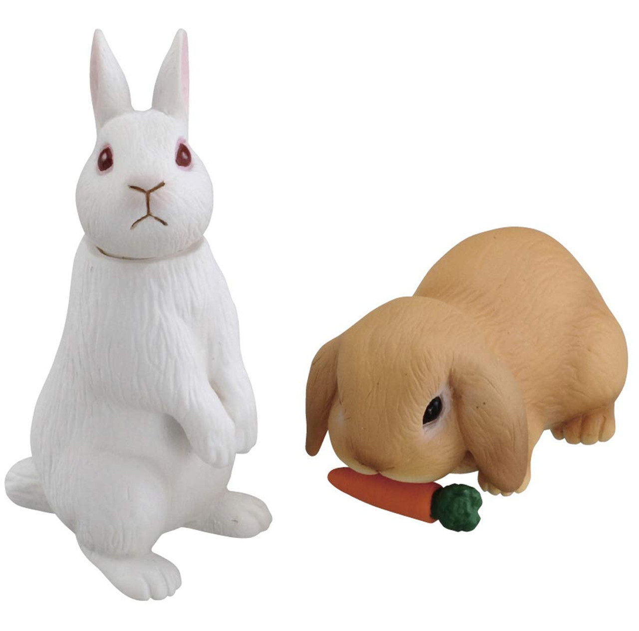 Takara Tomy AS-34 Animal Adventure White Rabbit /& Lop-Eared Mini Action Figure