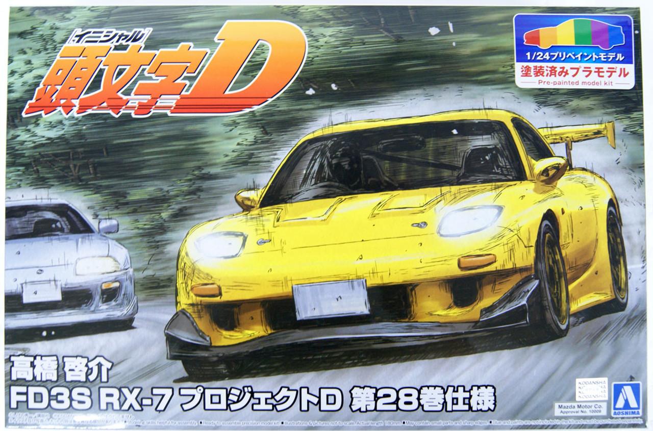 7 Keisuke Takahashi 1//32 Scale Plastic Model 4 FD 3 S RX Initial D No