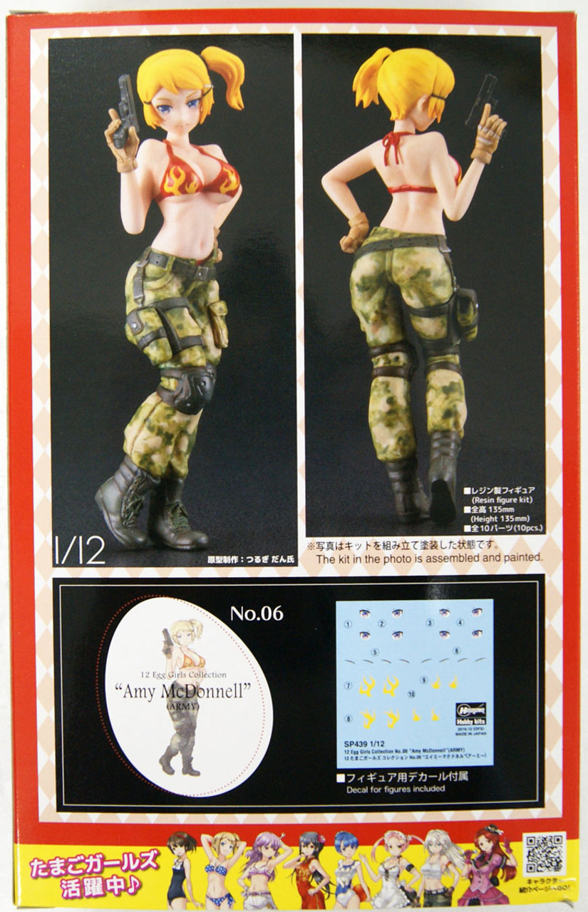 SP439 Plastic Model Building Set # 52239 Hasegawa 1//12 Scale Egg Girls Collection No.6 Amy Mcdonnell