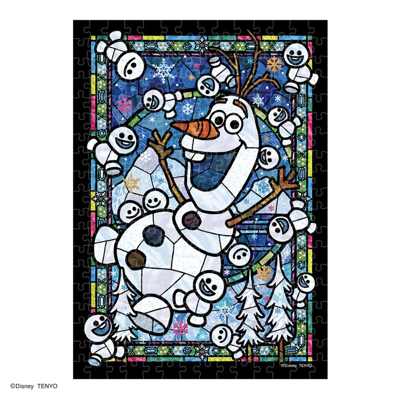 1 Stained Art 266-piece jigsaw puzzle stitch stained glass tightly series