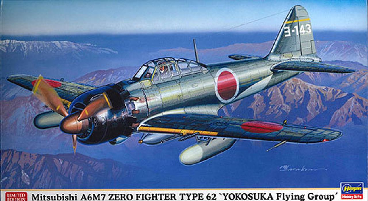 Hasegawa 09813 Mitsubishi A6M7 Zero Fighter Type 62 1//48 Scale kit