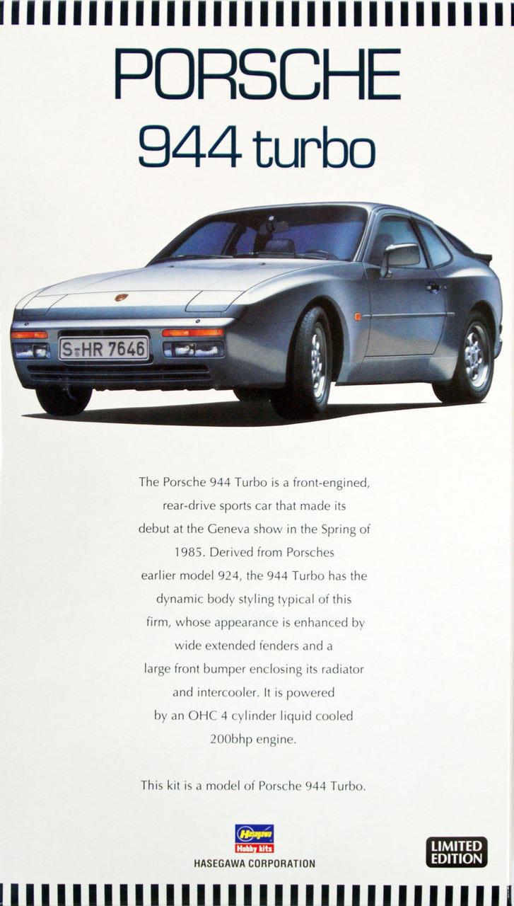 Hasegawa 1//24 shell Porsche 944 Turbo Racing Model Car 20451