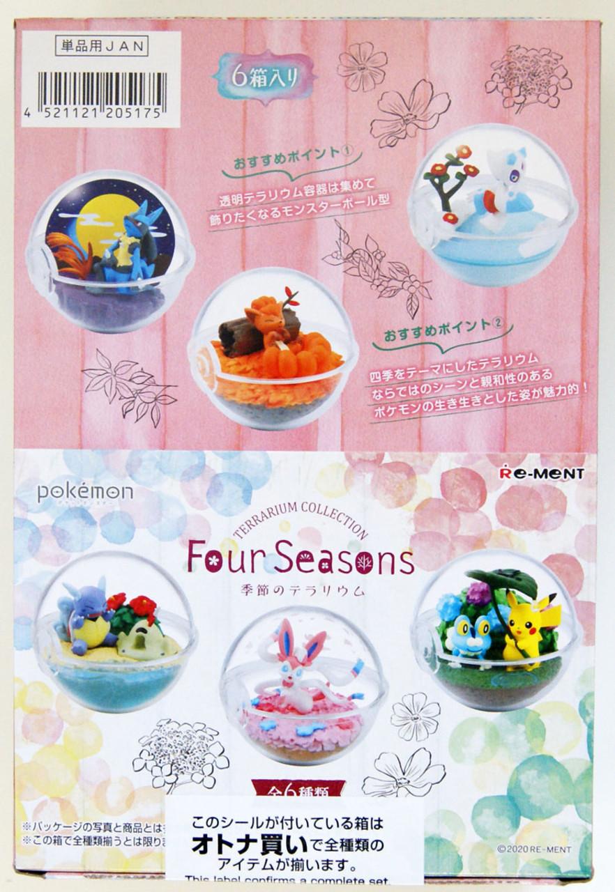 Re Ment Pokemon Terrarium Collection Four Seasons Box 6 Pcs