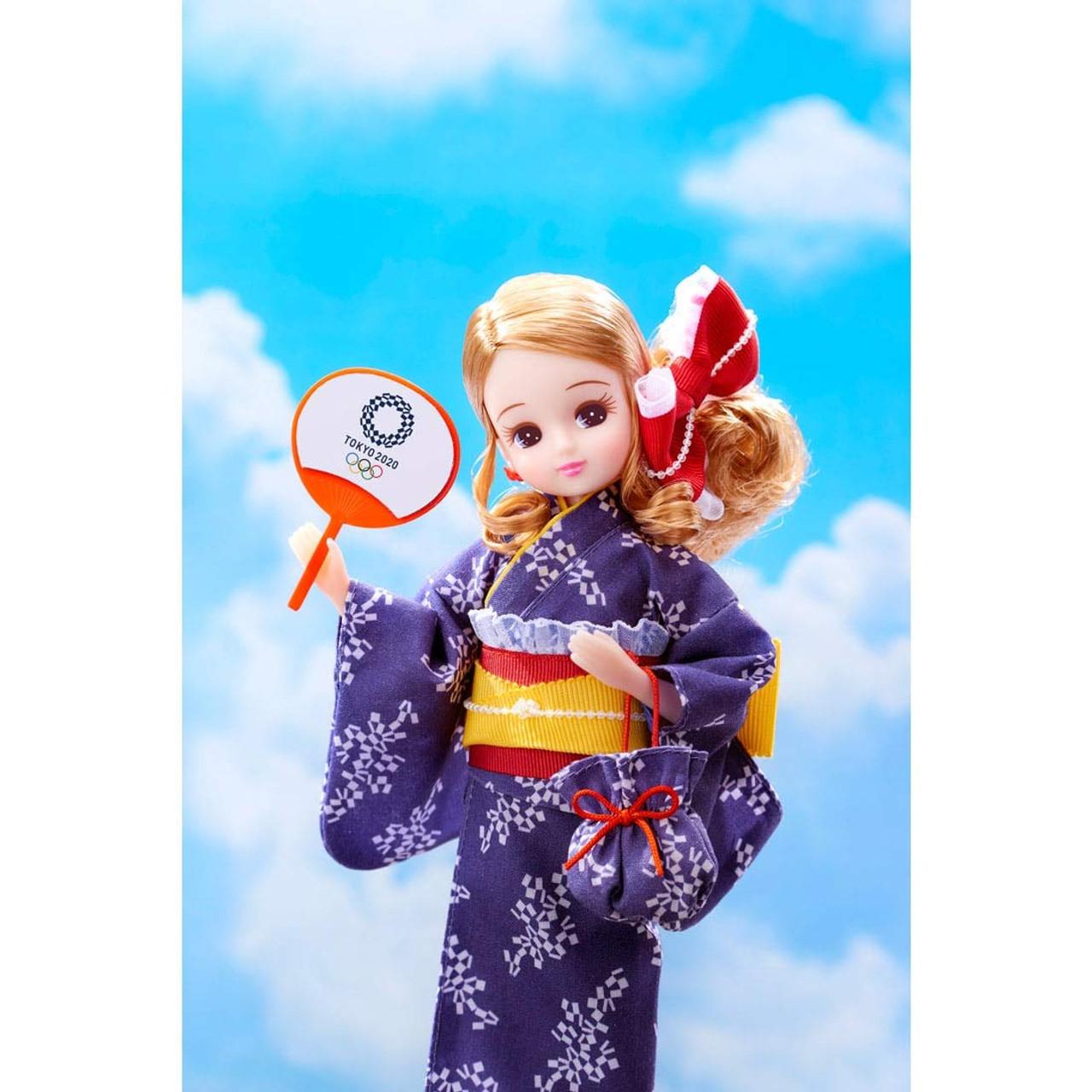 Licca chan Yukata Tokyo 2020 Paralympic Olympic Emblem Official Kimono set of 2