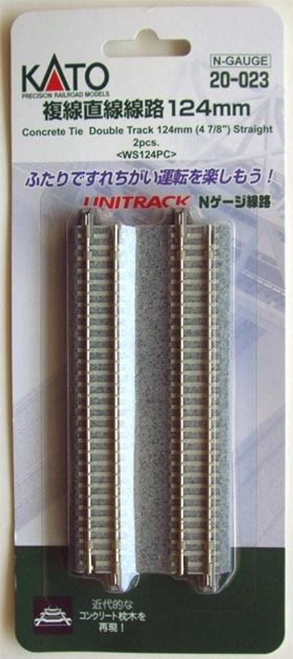 """N scale Kato 20-422 124mm Double Viaduct Track WS124V 4 7//8/"""""""