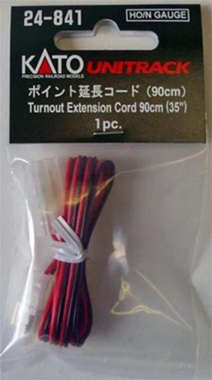 "35/"" Kato 24-841 HO//N Scale Unitrack Turnout Extension Cord 90cm 1pc."