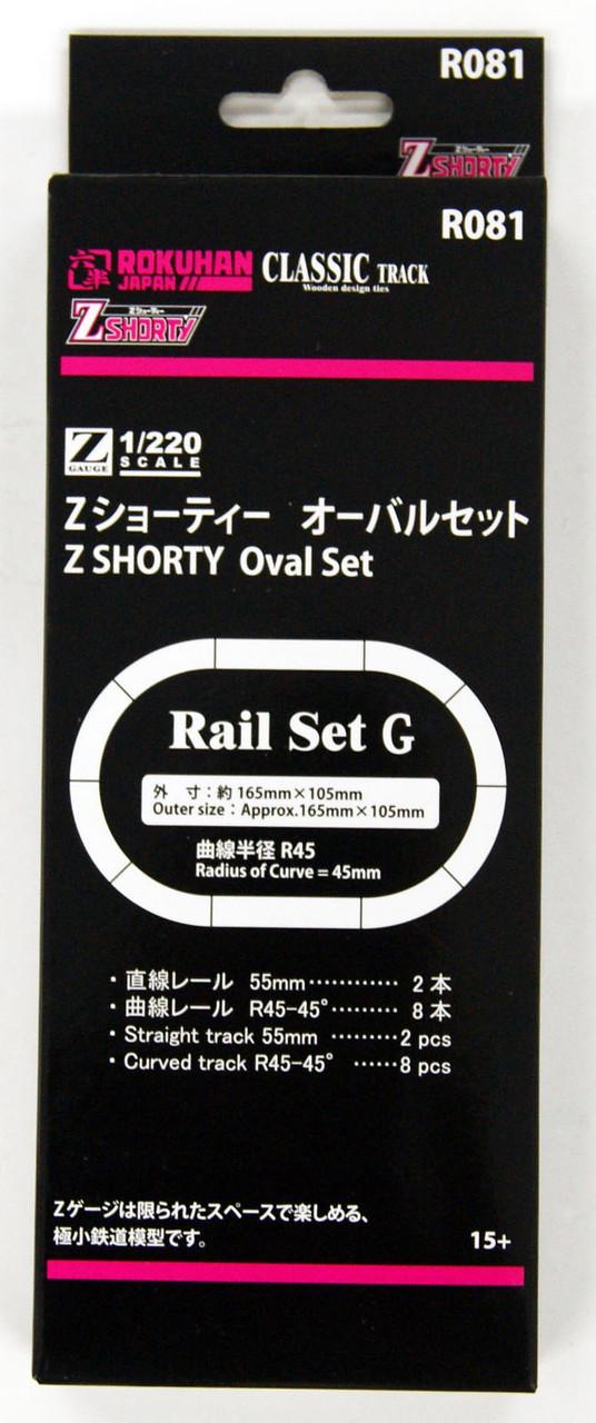 Rokuhan R081 Z Shorty Oval Set Rail Set G 1//220 Z Scale from Japan*