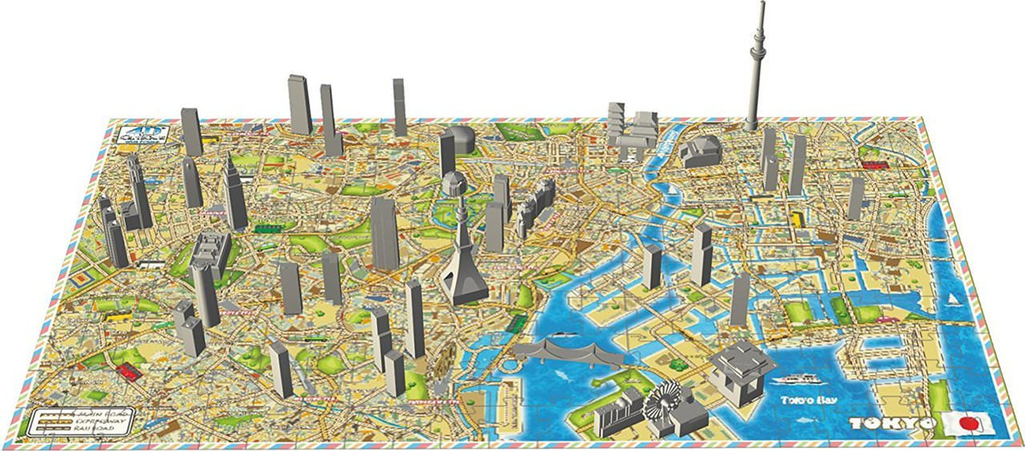 Ensky 4D Jigsaw Puzzle 4Dm-01 Cityscape Time Puzzle Mini City TOKYO (130  Pieces)