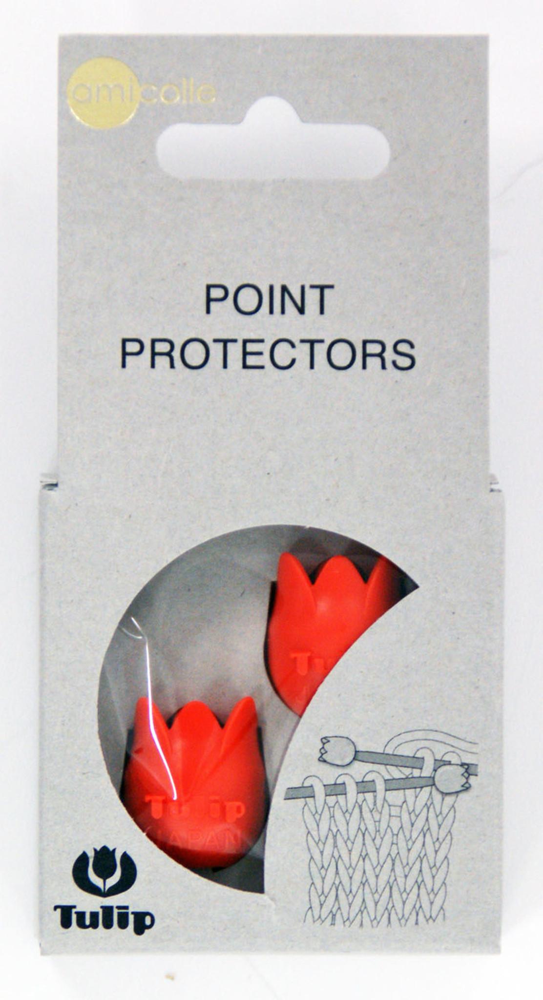 2 Pcs Tulip AC-049 Amicolle Point Protectors Large Orange
