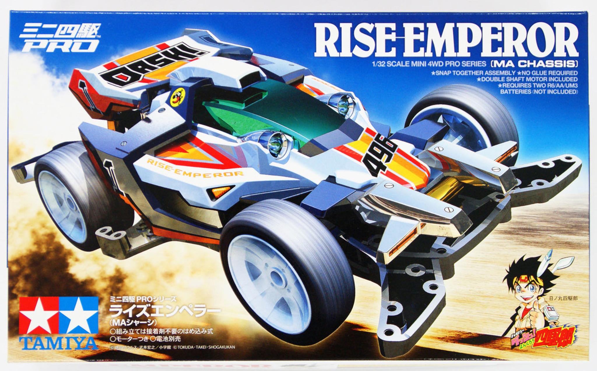 Tamiya 18643 Mini 4wd Rise Emperor Ma Chassis 1 32 Plaza Japan Super Ii Red Original