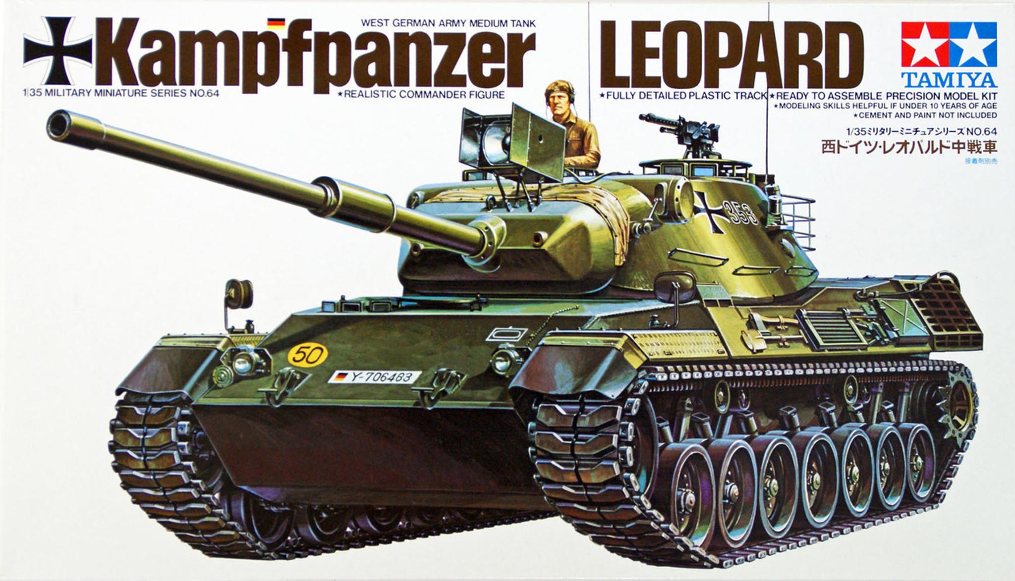 Tamiya 35064 West German Army Medium Tank Leopard 1/35 Scale Kit