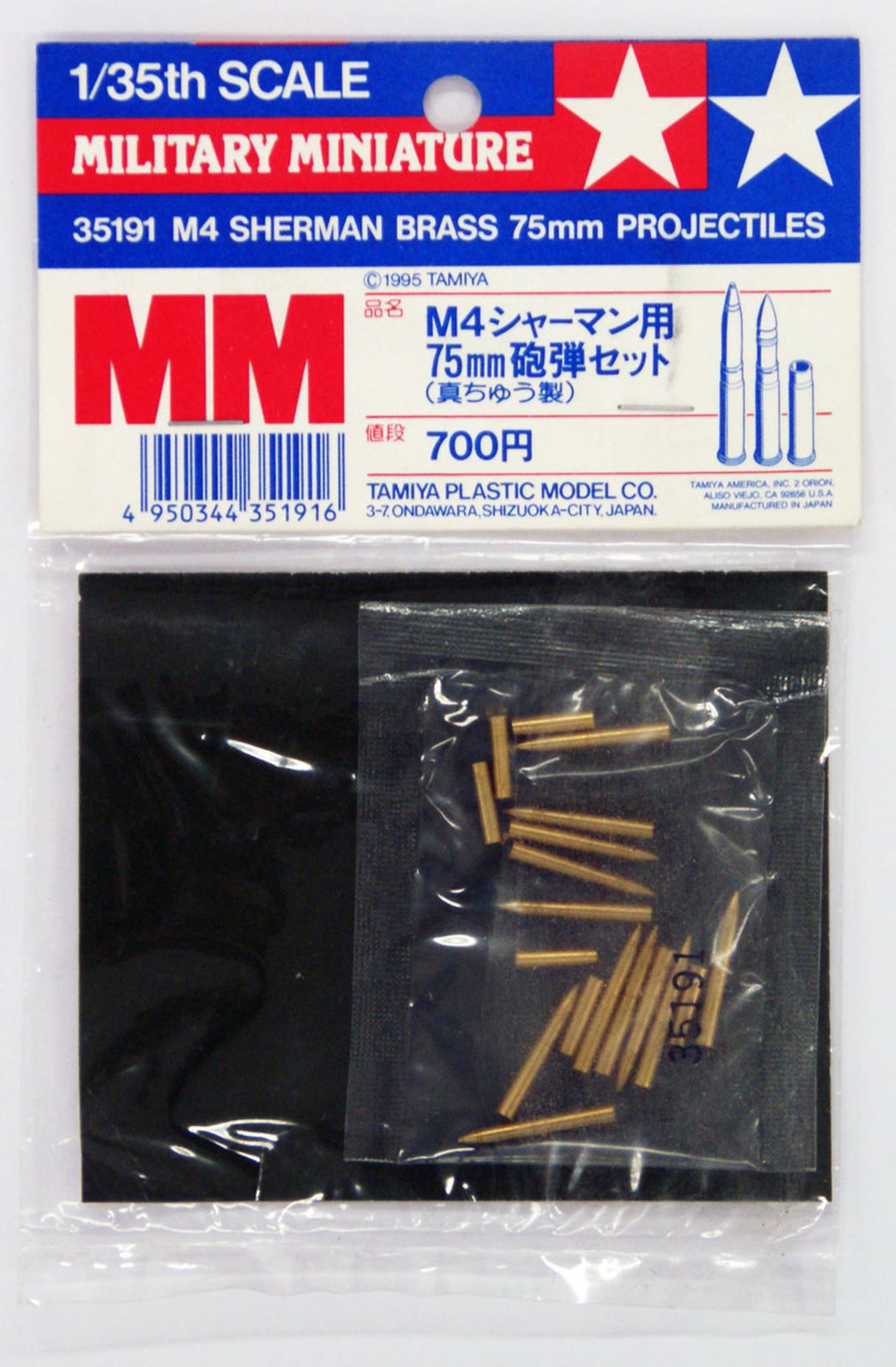 Tamiya 35182 Pz.Kpfw 1//35 Scale kit IV Brass Projectiles 75mm L48