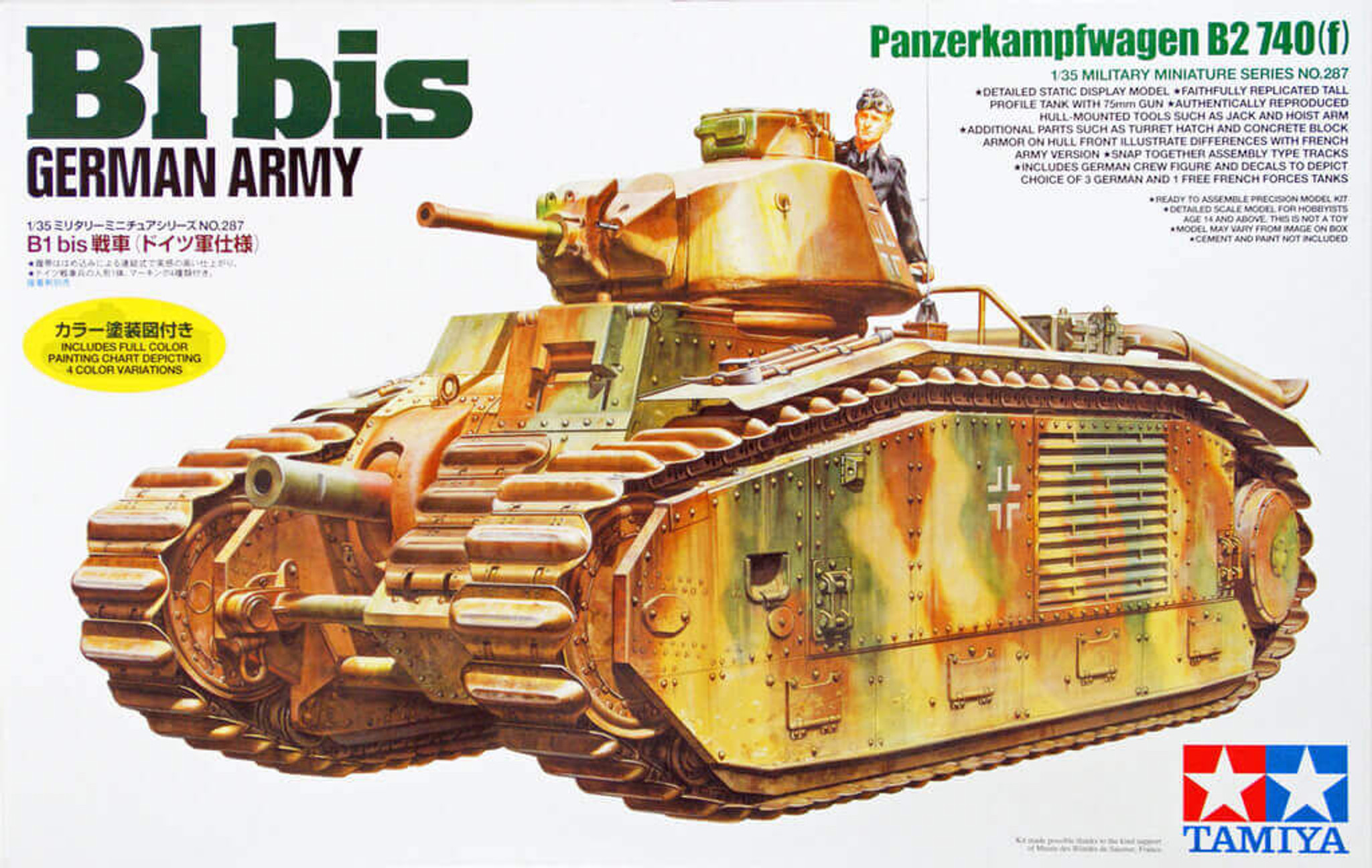 Tamiya 35287 German Army B1 bis 1/35 Scale Kit