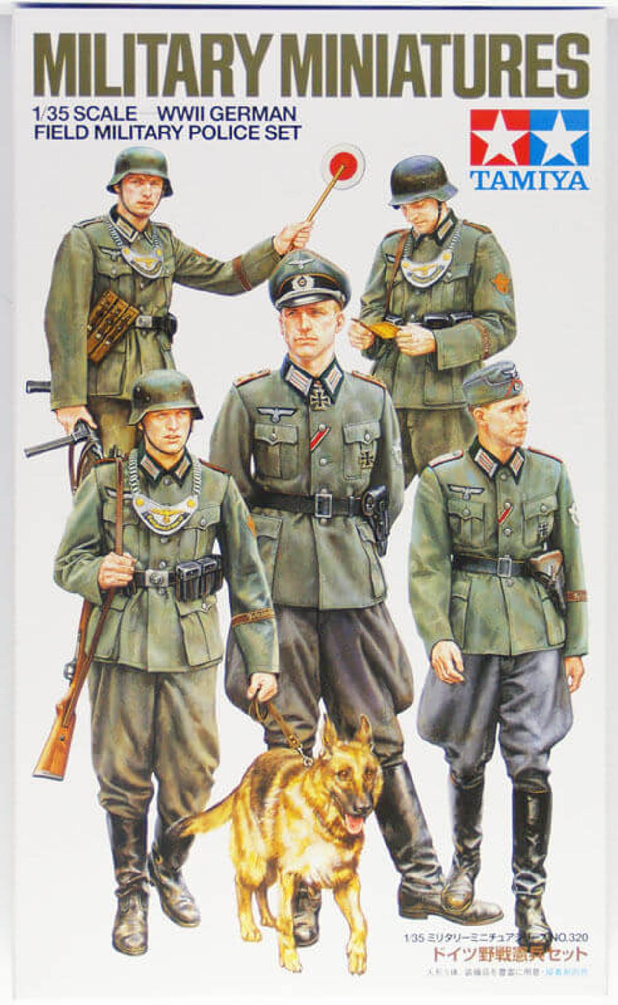 Tamiya 35320 WWII German Field Military Police Set 1/35 scale kit
