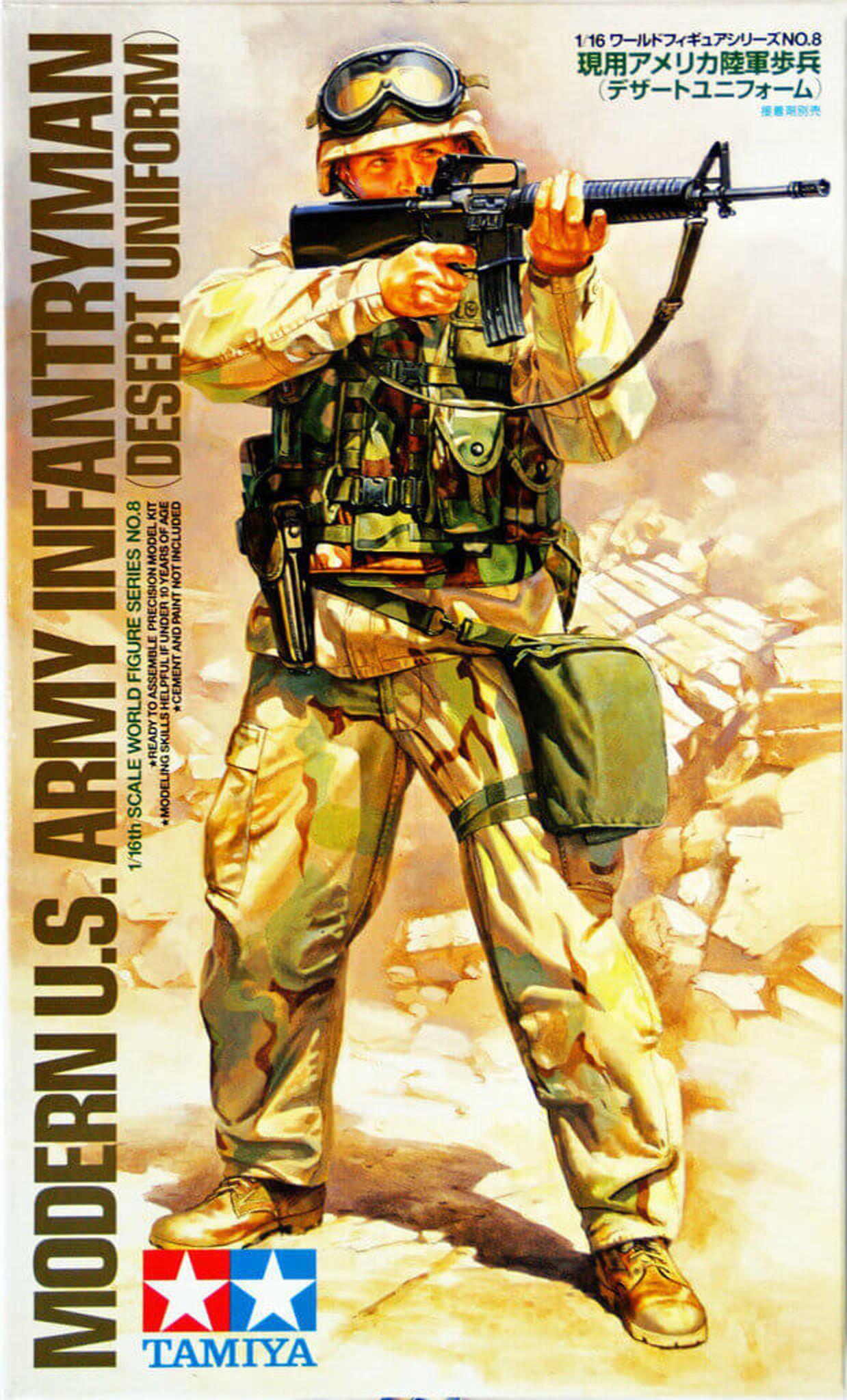 Soldiers, Figures Tamiya 36308 Modern US Army Infantryman 1/16 Scale Plastic Model Figure