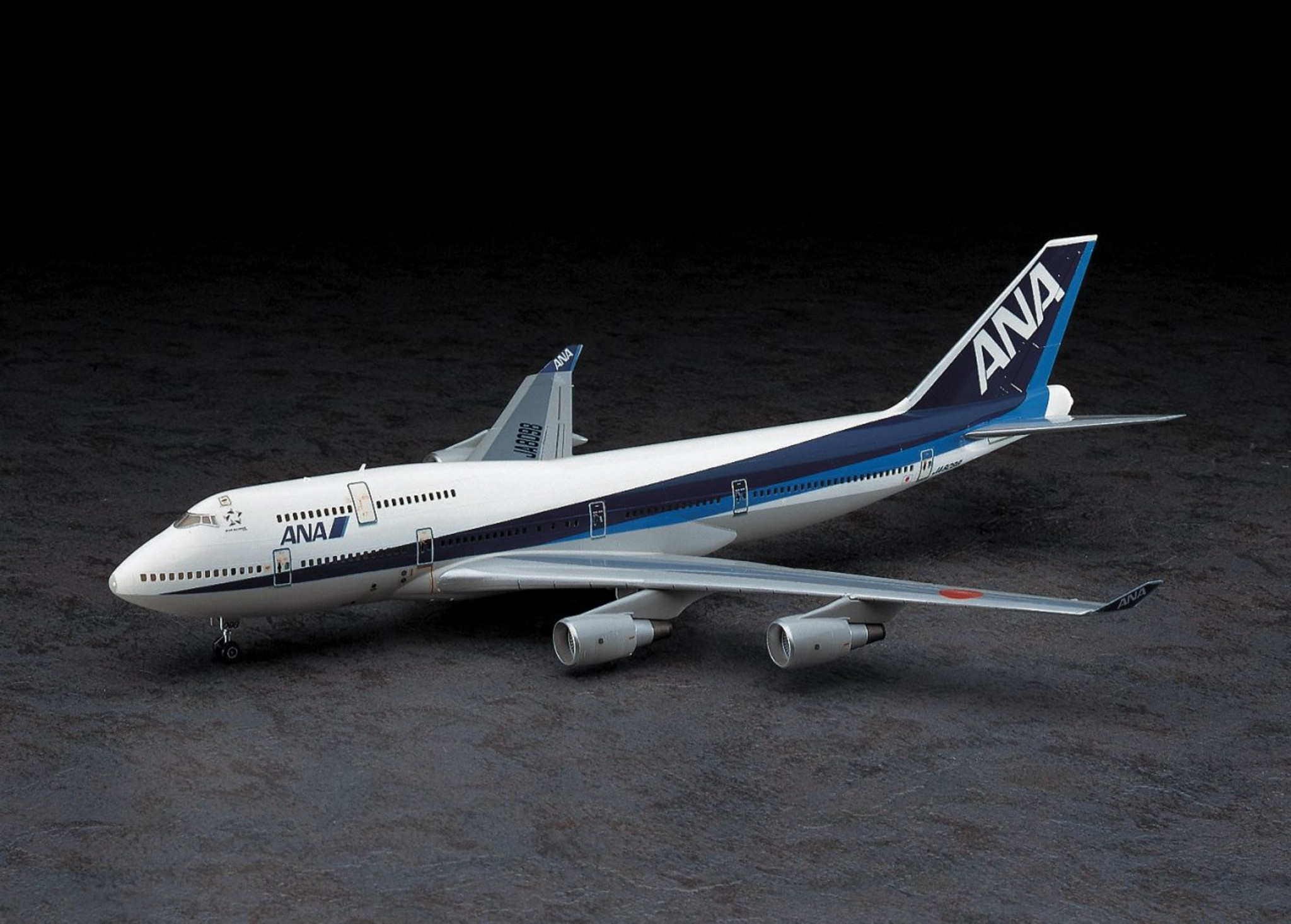 Hasegawa 02 ANA All Nippon Airways Boeing 747-400 1/200 Scale Kit on
