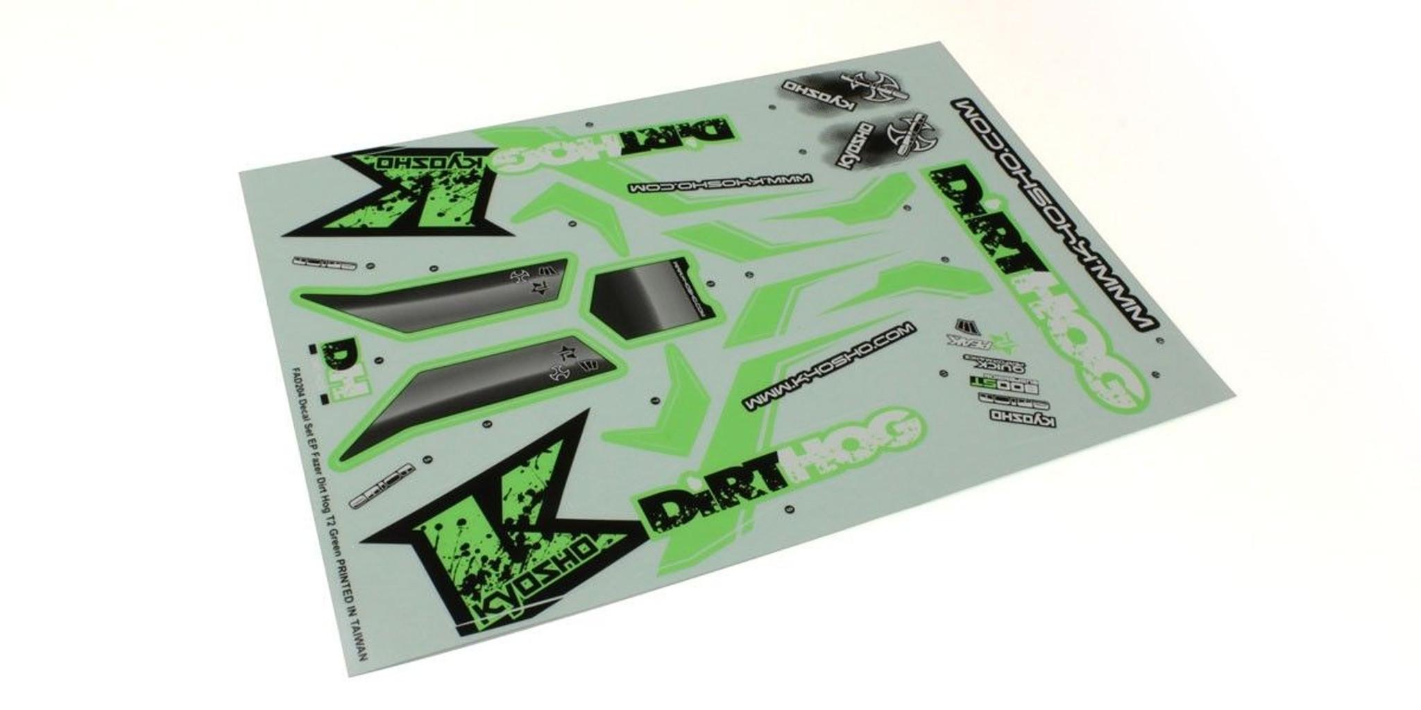 T2 Green Dirt Hog Kyosho FAD204 Decals